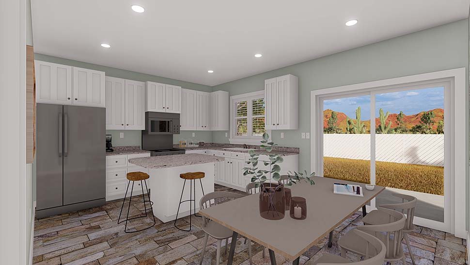 Ranch, Traditional House Plan 50534 with 5 Beds, 3 Baths, 2 Car Garage Picture 9