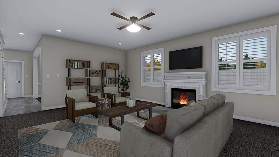 Traditional House Plan 50535 with 4 Beds, 2 Baths, 2 Car Garage Picture 10