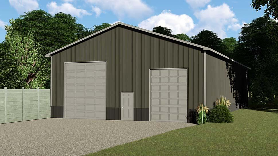 4 Car Garage Plan 50625, RV Storage Front Elevation
