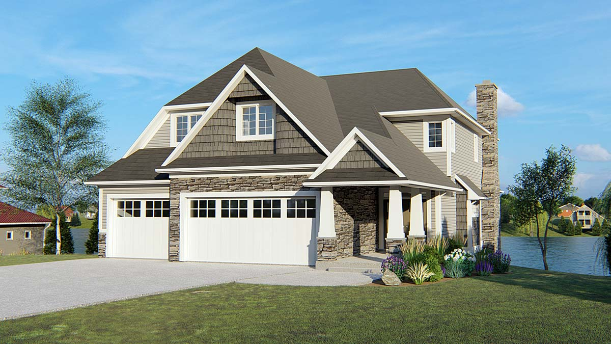 Bungalow, Cottage, Craftsman, Southern, Traditional House Plan 50692 with 5 Beds, 5 Baths, 3 Car Garage Front Elevation