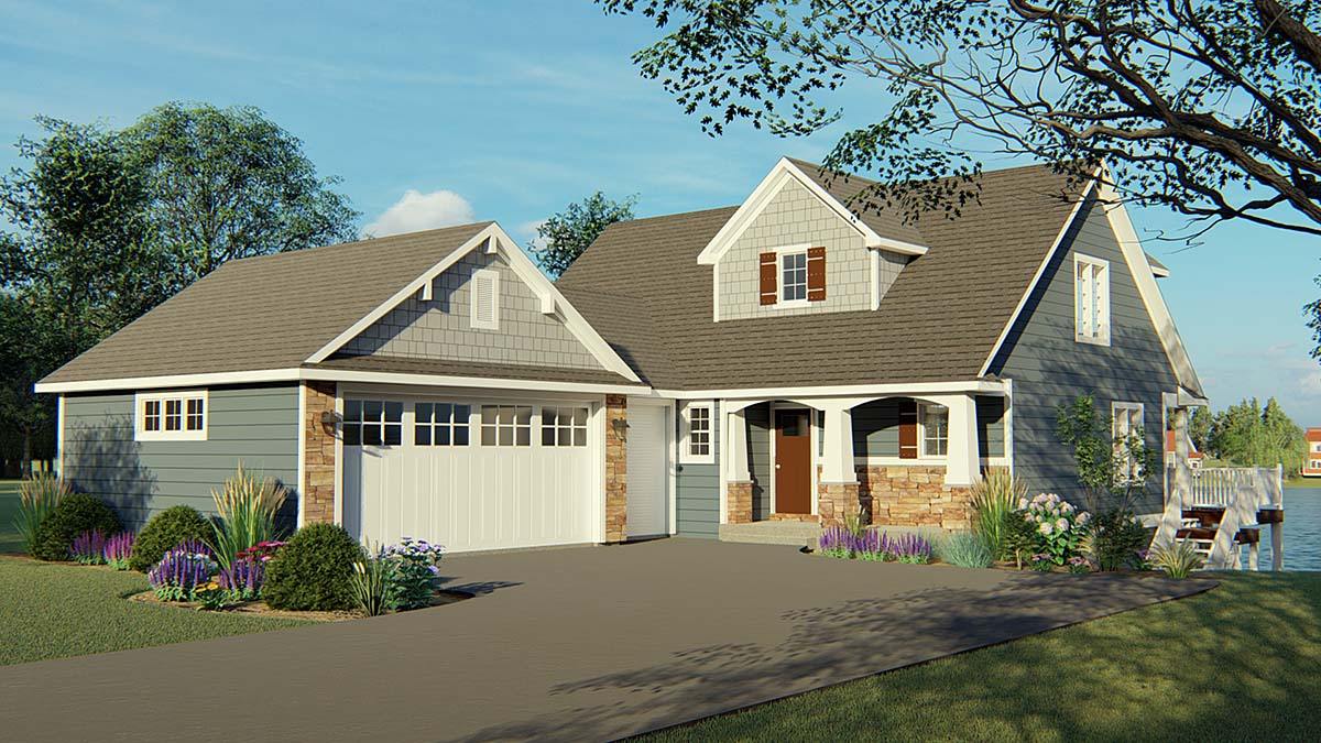 Bungalow, Cottage, Country, Craftsman House Plan 50704 with 4 Beds, 4 Baths, 2 Car Garage Elevation