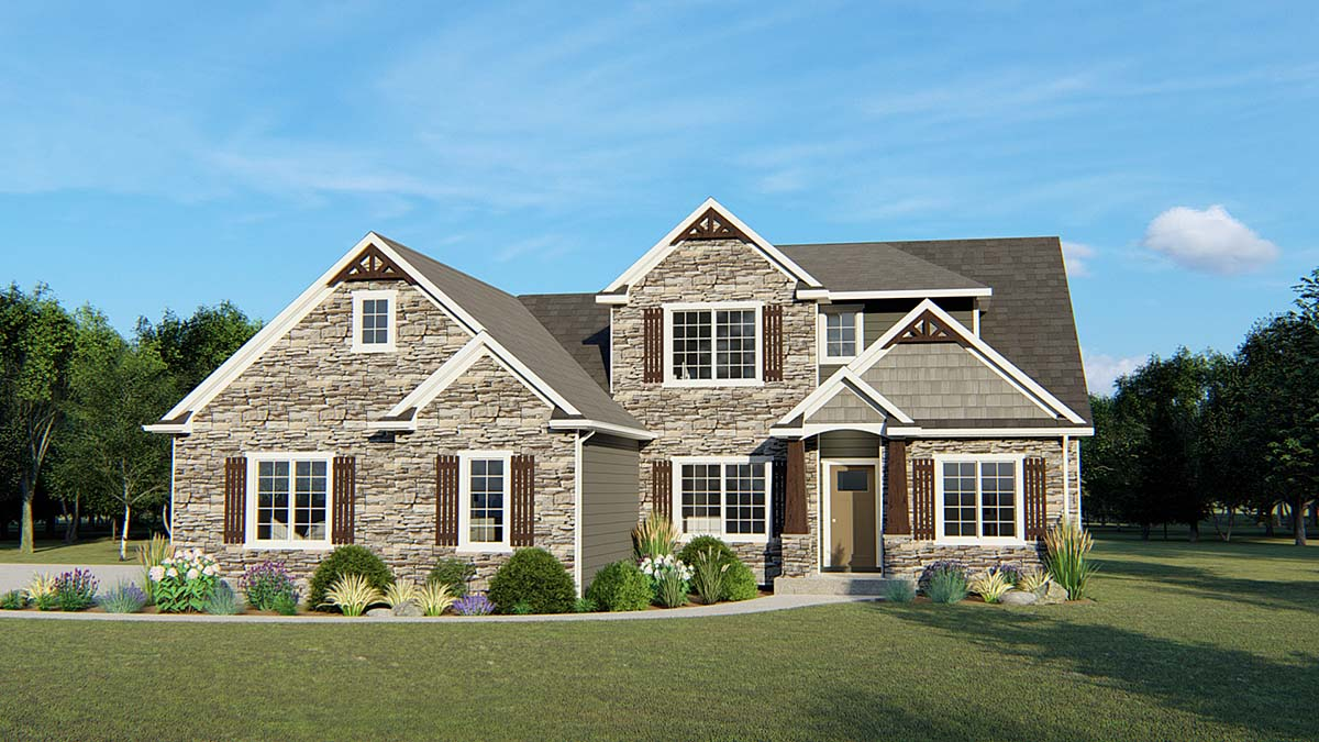 Cottage, Country, Southern, Traditional House Plan 50712 with 5 Beds, 3 Baths, 3 Car Garage Front Elevation