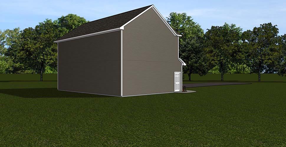 2 Car Garage Apartment Plan 50792 Rear Elevation
