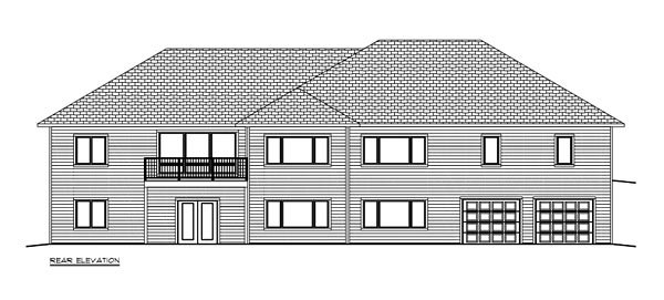 Craftsman, Ranch, Traditional House Plan 50903 with 3 Beds, 3 Baths, 3 Car Garage Rear Elevation