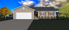 Plan Number 50915 - 1352 Square Feet