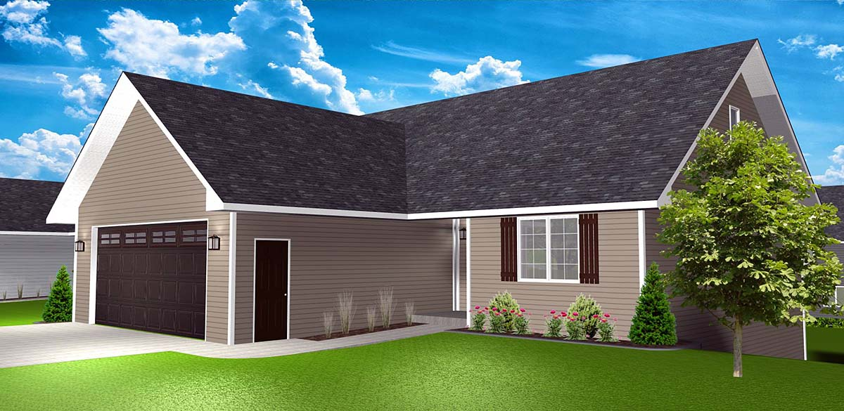 Country, One-Story, Ranch, Traditional House Plan 50916 with 3 Beds, 3 Baths, 2 Car Garage Picture 1