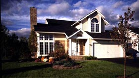 Contemporary, One-Story, Traditional House Plan 51019 with 3 Beds, 3 Baths, 2 Car Garage Elevation