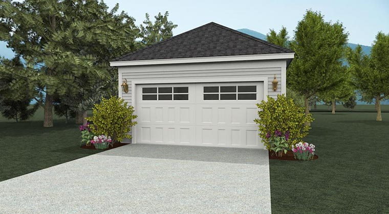 European, Ranch 2 Car Garage Plan 51403 Elevation