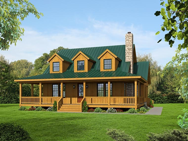 Country House Plan 51438 with 3 Beds, 4 Baths Elevation