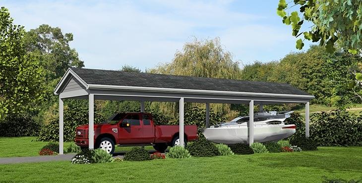 1 Car Garage Plan 51448 Front Elevation