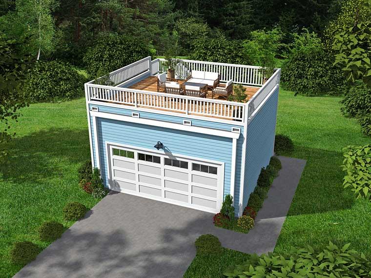 Contemporary 2 Car Garage Apartment Plan 51451 Elevation