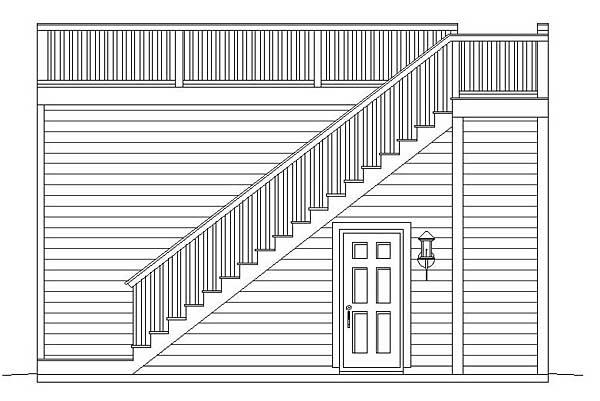 Contemporary 2 Car Garage Apartment Plan 51451 Rear Elevation
