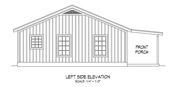 Cabin, Country, Ranch, Southern House Plan 51456 with 2 Beds, 1 Baths Picture 1
