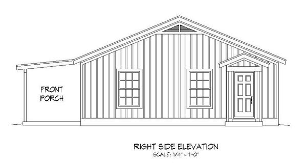 Cabin, Country, Ranch, Southern House Plan 51456 with 2 Beds, 1 Baths Picture 2