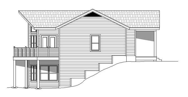 Cabin, Country House Plan 51460 with 3 Beds, 4 Baths, 1 Car Garage Picture 1