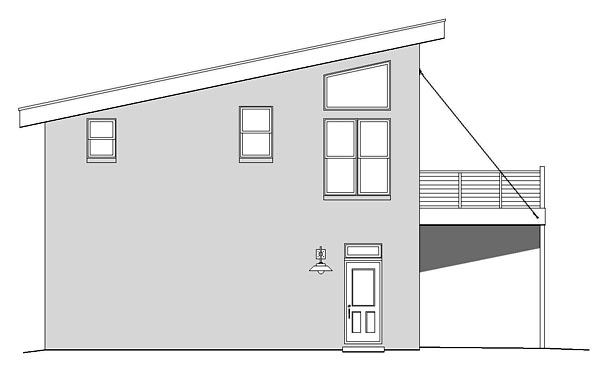 Contemporary, Modern 2 Car Garage Apartment Plan 51479 with 1 Beds, 1 Baths Picture 1