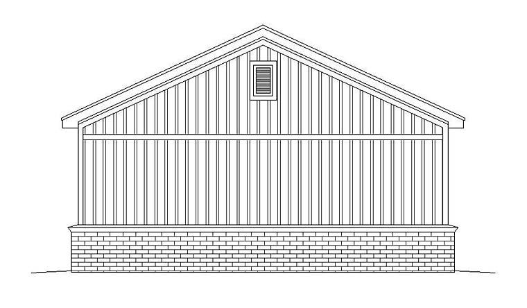 2 Car Garage Plan 51530 Rear Elevation