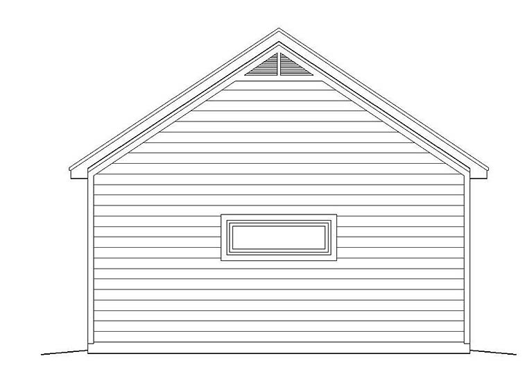 2 Car Garage Plan 51536 Rear Elevation