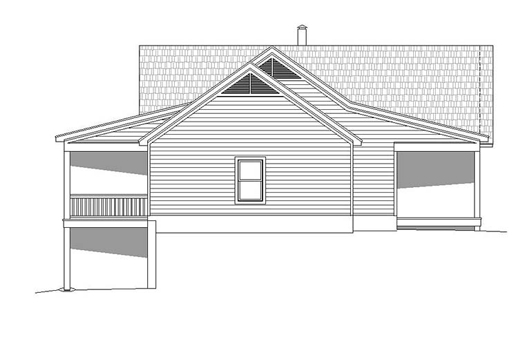 Country, Southern, Traditional House Plan 51551 with 2 Beds, 2 Baths, 2 Car Garage Picture 1