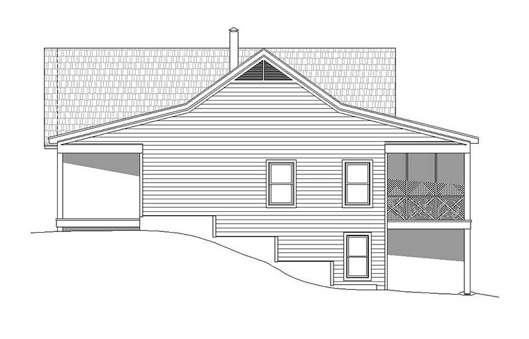 Country, Southern, Traditional House Plan 51551 with 2 Beds, 2 Baths, 2 Car Garage Picture 2
