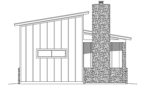 Contemporary 3 Car Garage Plan 51580, RV Storage Picture 1