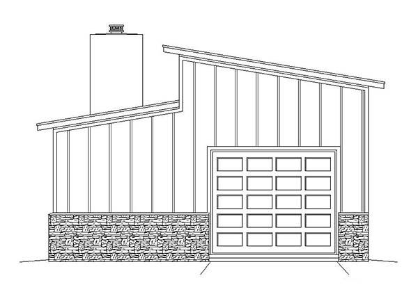 Contemporary 3 Car Garage Plan 51580, RV Storage Picture 2