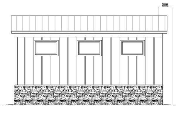 Contemporary 3 Car Garage Plan 51580, RV Storage Rear Elevation