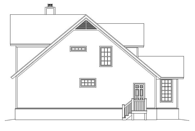 Cabin, Cottage, Country, Southern House Plan 51583 with 3 Beds, 3 Baths Picture 2