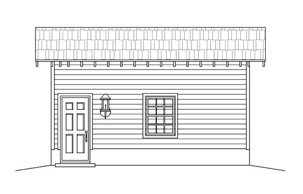 1 Car Garage Plan 51590 Picture 1