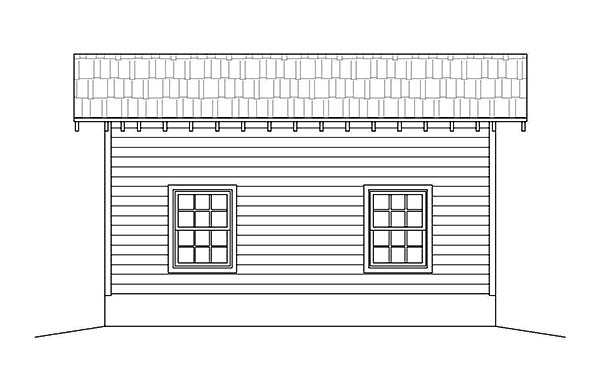 1 Car Garage Plan 51590 Picture 2