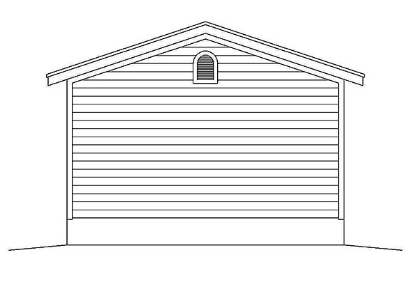 1 Car Garage Plan 51590 Rear Elevation