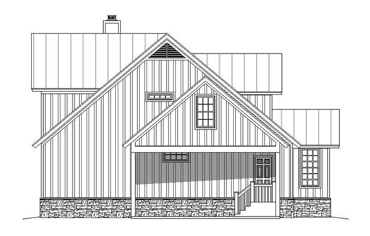 Country, Farmhouse, Southern House Plan 51593 with 3 Beds, 3 Baths, 2 Car Garage Picture 2