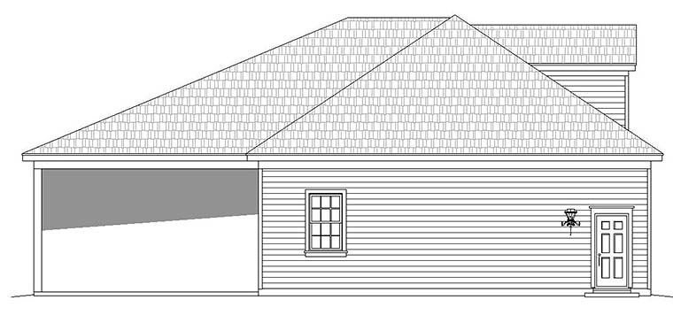 4 Car Garage Plan 51594 Picture 2