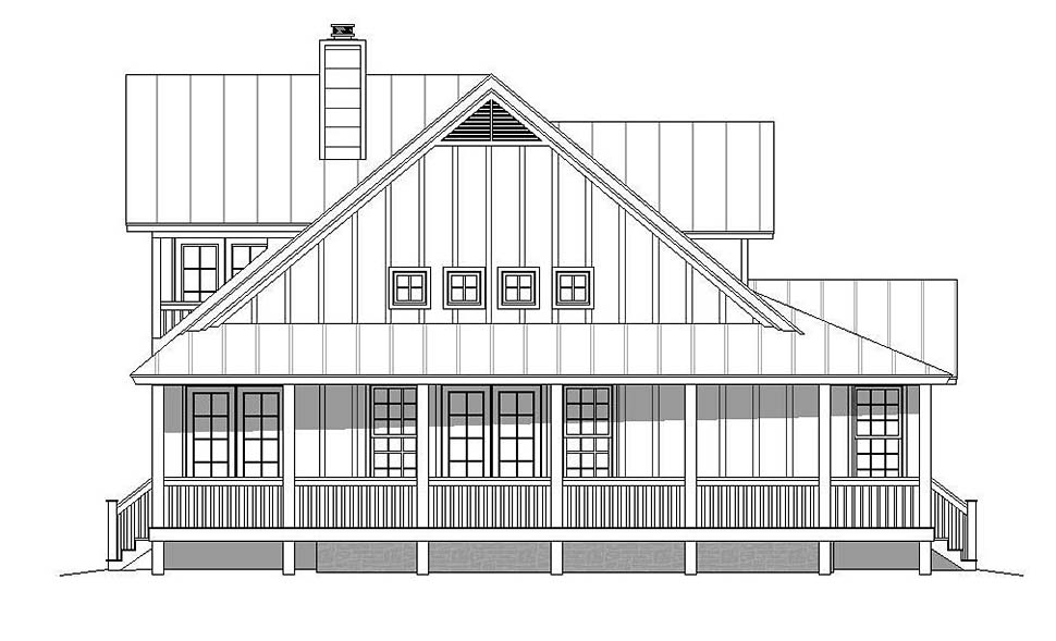Country, Southern House Plan 51605 with 3 Beds, 3 Baths Picture 2