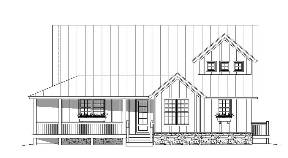 Country, Southern House Plan 51605 with 3 Beds, 3 Baths Picture 3