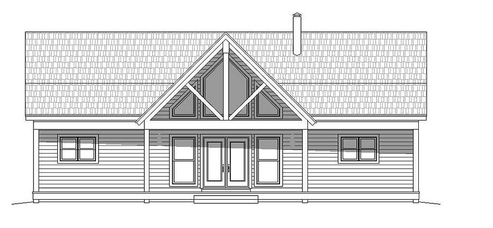 Contemporary, Country House Plan 51606 with 2 Beds, 2 Baths, 1 Car Garage Picture 3