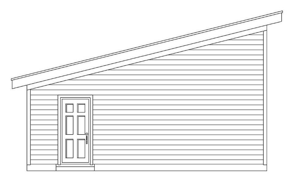 Modern 2 Car Garage Plan 51608 Picture 2