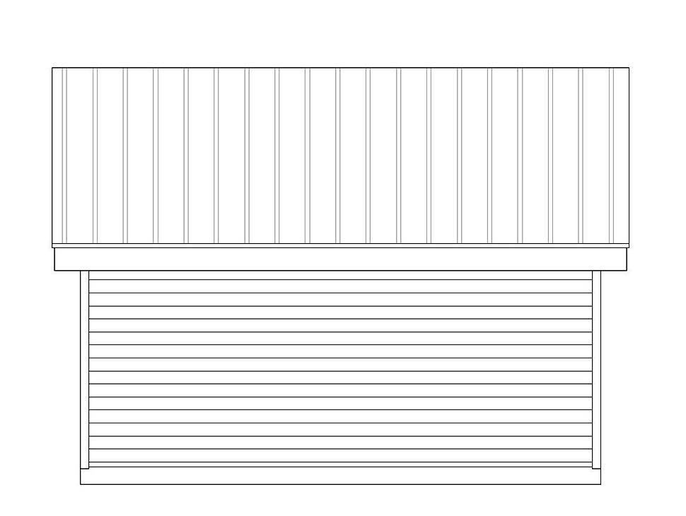 Modern 2 Car Garage Plan 51608 Rear Elevation