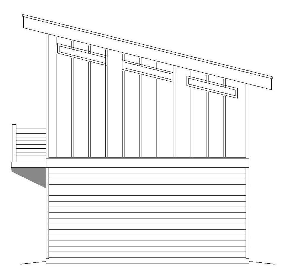 Modern 1 Car Garage Apartment Plan 51609 Picture 1