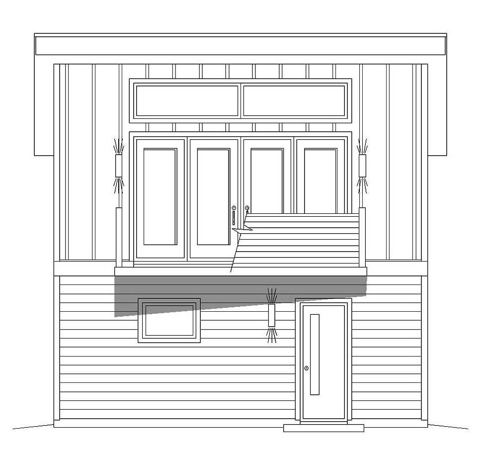 Modern 1 Car Garage Apartment Plan 51609 Picture 3
