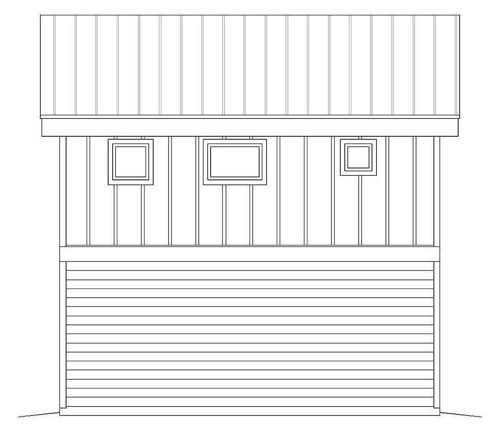 Modern 1 Car Garage Apartment Plan 51609 Rear Elevation