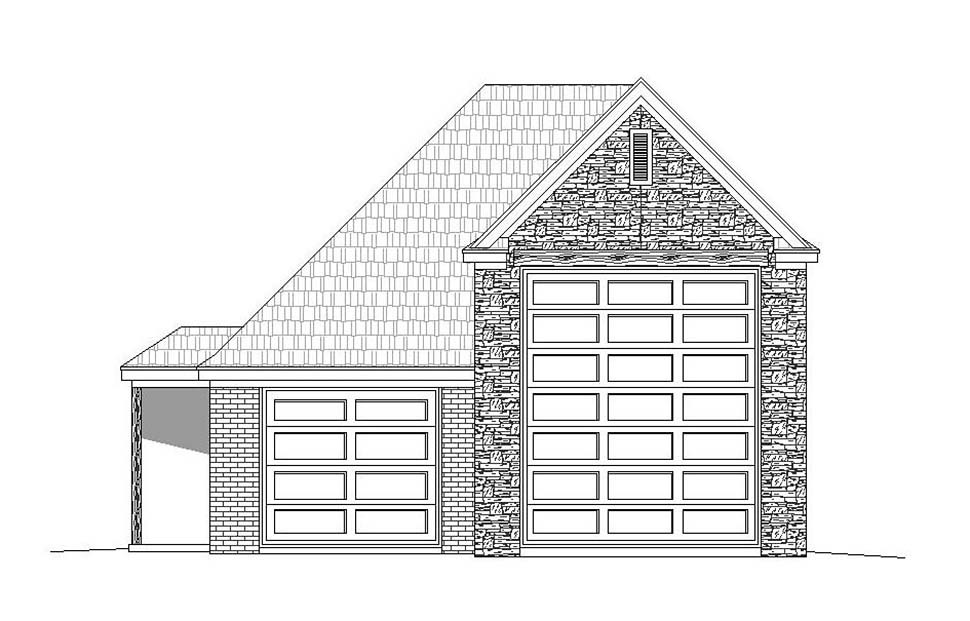 3 Car Garage Plan 51624, RV Storage Picture 3
