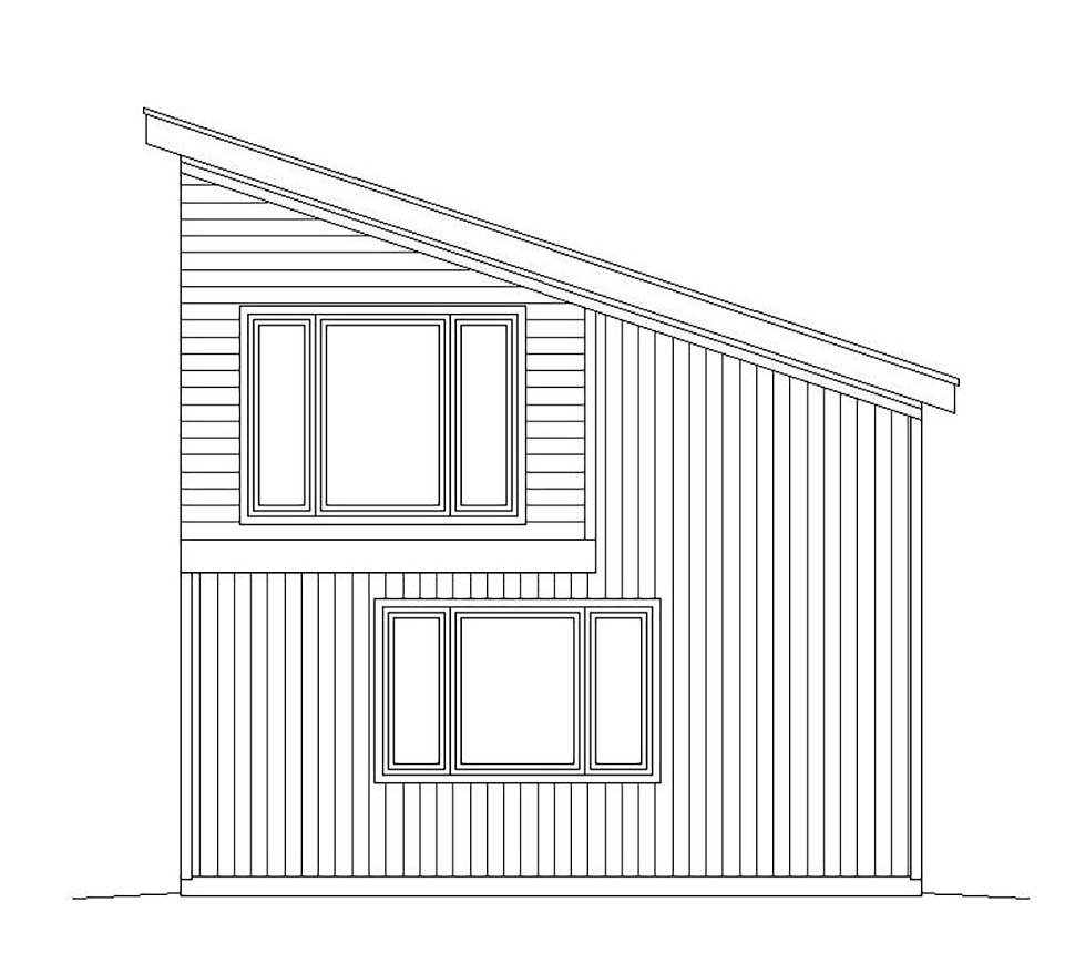 Contemporary, Modern 3 Car Garage Plan 51625 Picture 1