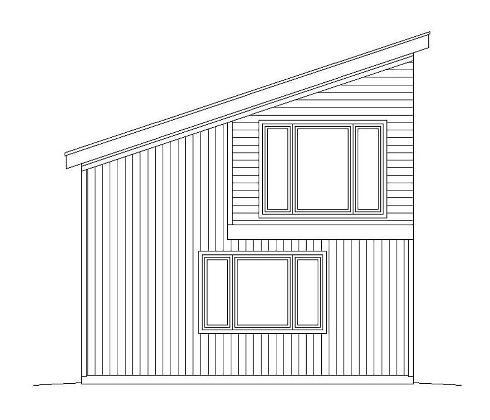 Contemporary, Modern 3 Car Garage Plan 51625 Picture 2