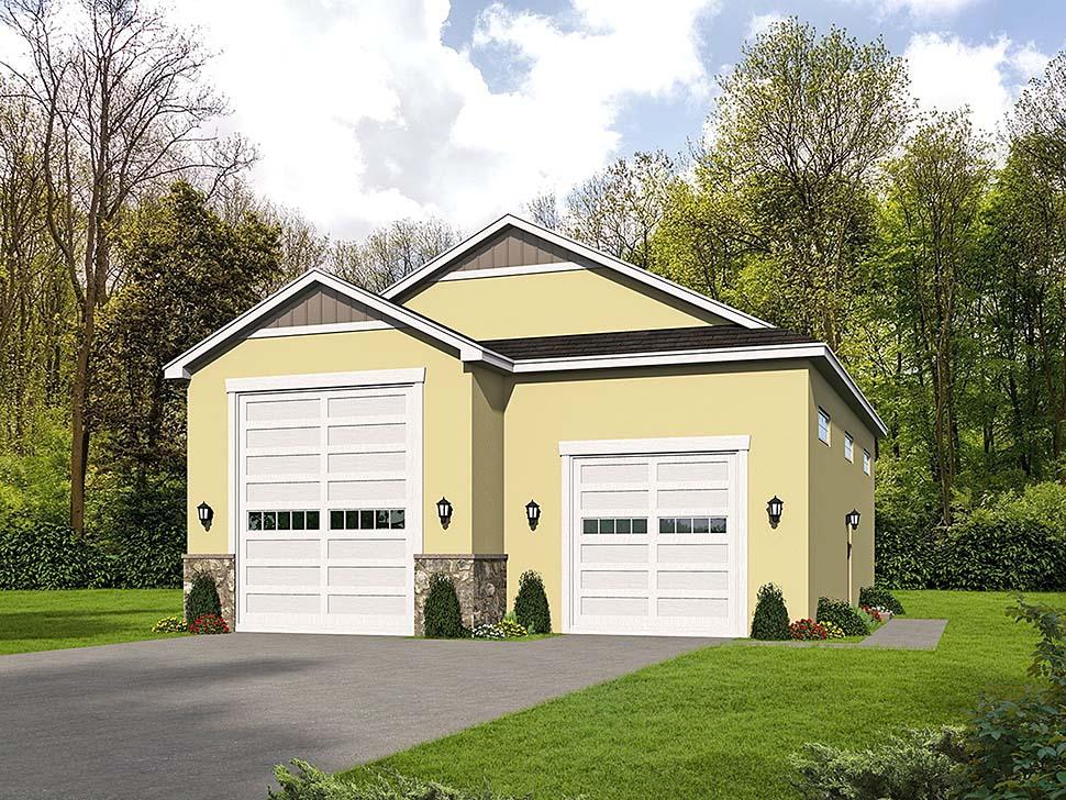 Traditional 3 Car Garage Plan 51626, RV Storage Front Elevation