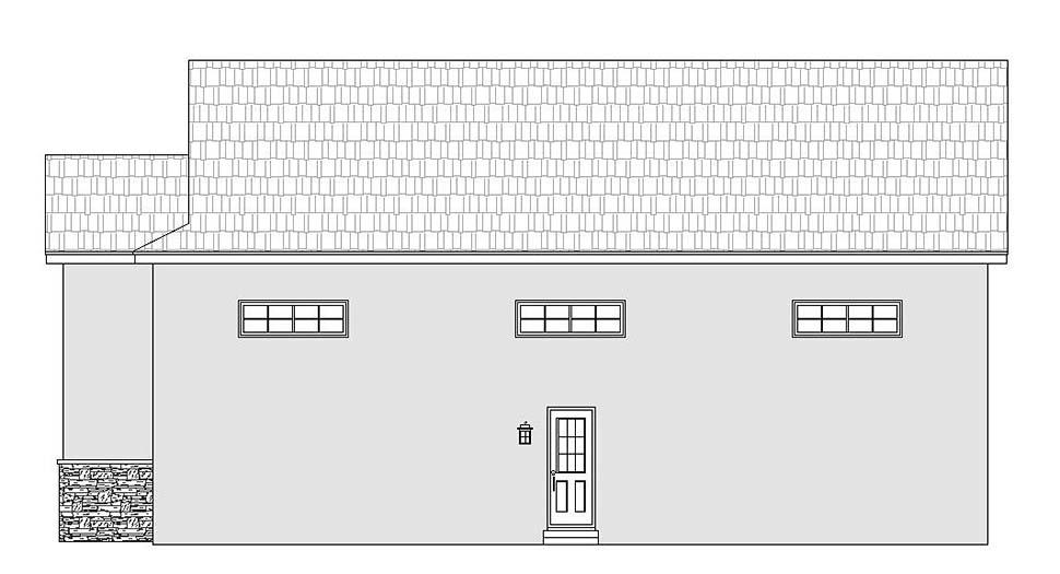 Traditional 3 Car Garage Plan 51626, RV Storage Picture 1