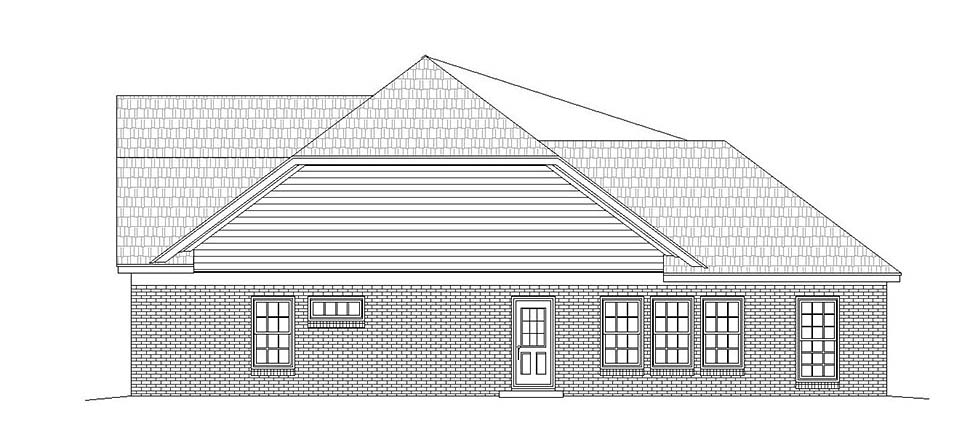 Traditional House Plan 51630 with 2 Beds, 4 Baths, 2 Car Garage Picture 1