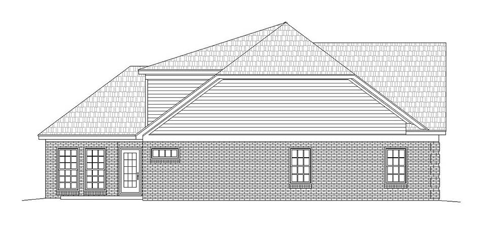 Traditional House Plan 51630 with 2 Beds, 4 Baths, 2 Car Garage Picture 2