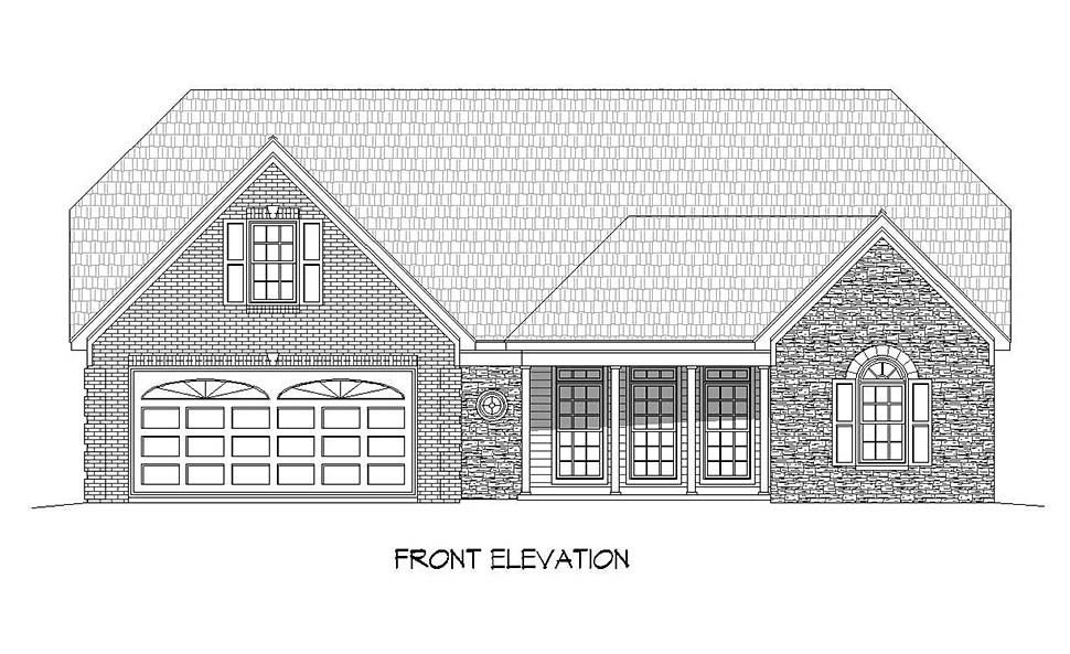 Traditional House Plan 51630 with 2 Beds, 4 Baths, 2 Car Garage Picture 3