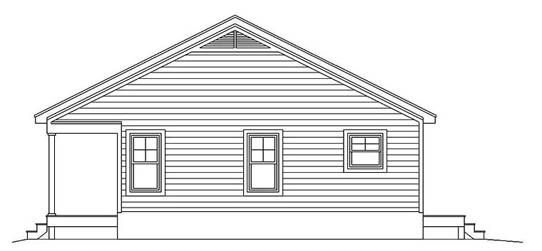 Cabin, Country, Southern, Traditional House Plan 51640 with 1 Beds, 1 Baths Picture 1